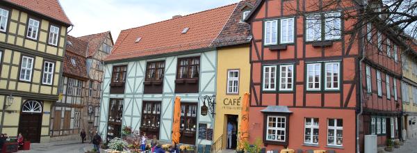 Bunte Fachwerkhäuser in Quedlinburg ©Alina Lipka
