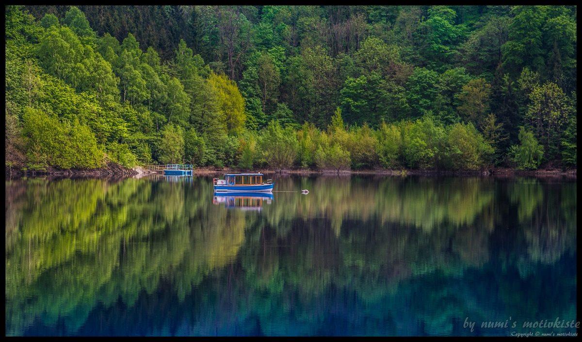 Die Rappbodetalsperre lädt für traumhafte Landschaftsfotos ein ©Numi's Motivkiste