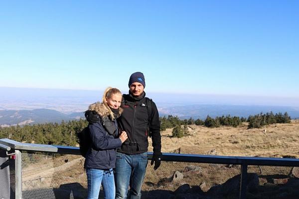 Anja und Chris genießen gemiensame Wandertouren im Harz ©Anja Leineweber