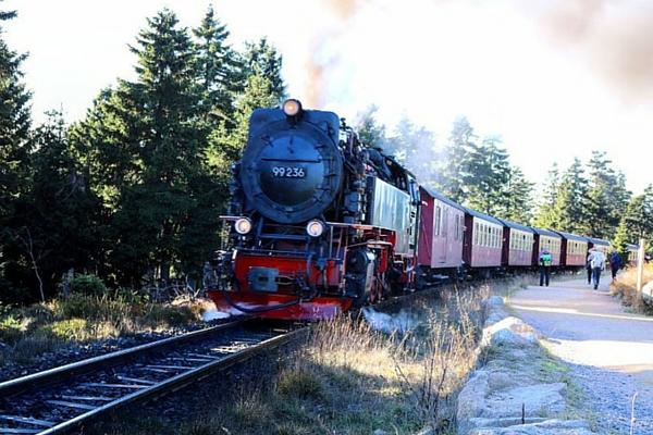 Die Harzer Schmalspurbahn auf dem Weg zum Brocken (Goetheweg) ©Anja Leineweber