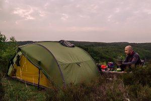 700 km Harz - Enno beim Campen
