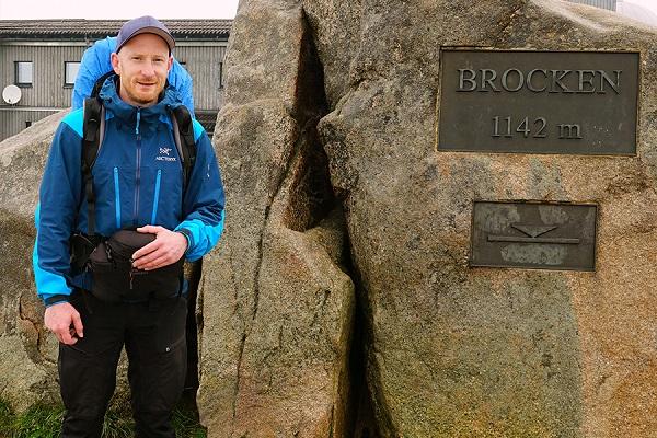 700 km Harz - Enno auf dem Brocken