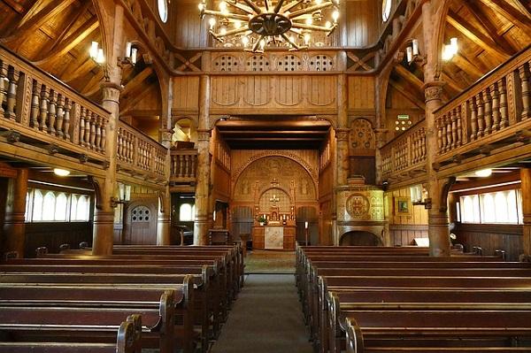Stabkirche Hahnenklee von innen